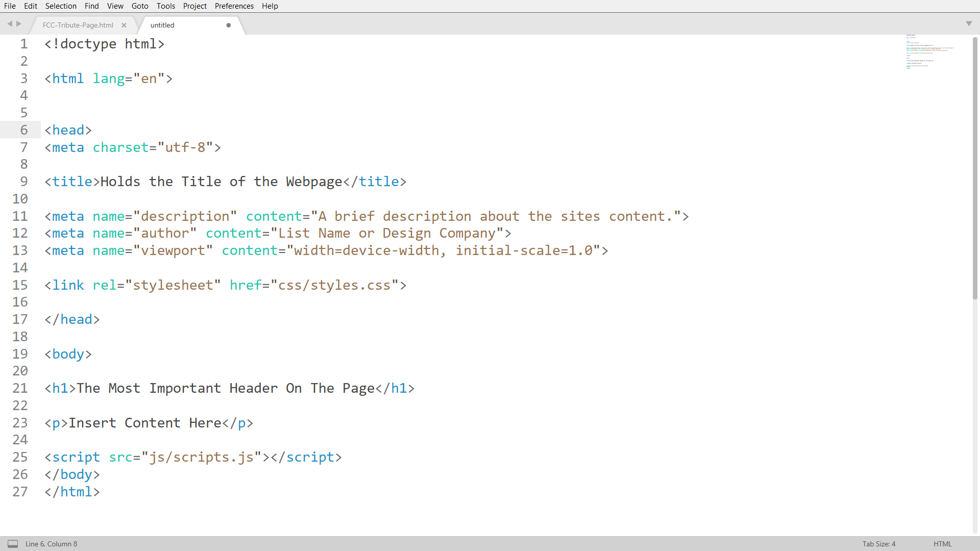 A Sublime editor screen shot of the code discussed in this post. Each line of code is further described in further down the text and a link to this code is provided in the last paragraph.